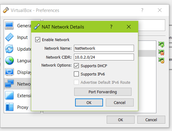 VirtualBox NAT settings: How to configure so they don't have same IPs?
