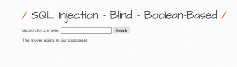 Blind boolean based SQli bwapp4