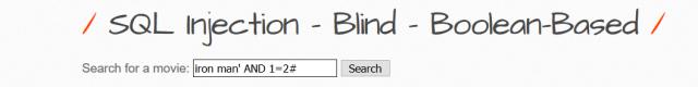 Blind boolean based SQli bwapp1