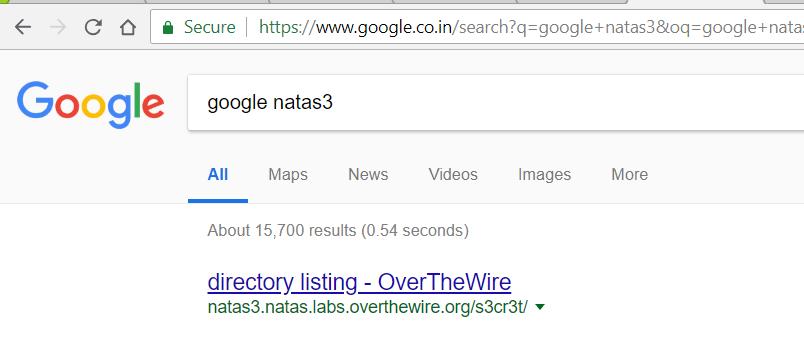 Overthewire natas 2