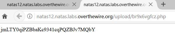 overthewire natas 12-13
