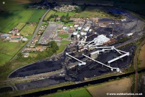 aerial photograph of Kellingley Colliery , Beal, near Knottingley  West Yorkshire UK ‎