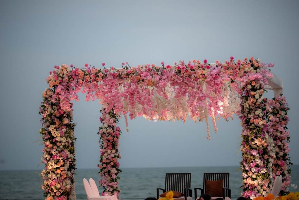 beach wedding mandap