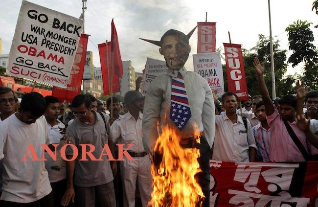PA 9741936 The best Barack Obama burning effigies   Islamists go bonkers for Bonfire Night (photos)