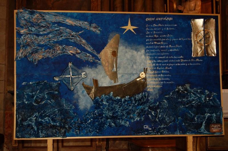 mural conmemorativo del Año de la Fe