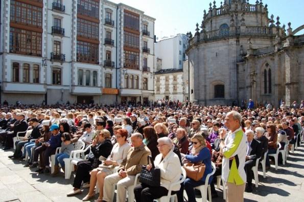 Misa de Corpus na Praza de Santa María