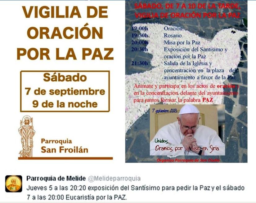 actos pola paz na Diocese Lugo 7 setembro