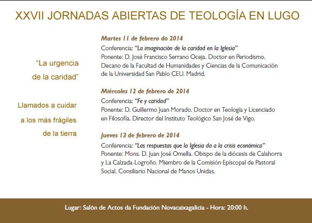 Xornadas de Teoloxía. Lista conferencias