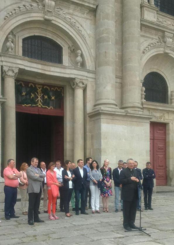 Bispo Lugo intervención ante a Catedral