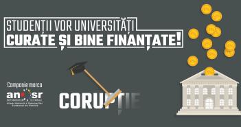 Studenții vor universități curate și bine finanțate!