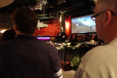 Nick Versteeg introducing his documentary