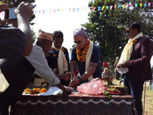 Ceremony at Aapchaur school