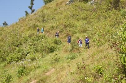 The ABIN team walking to Sharada