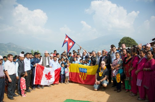 Sharada and ABIN with Langford Flag