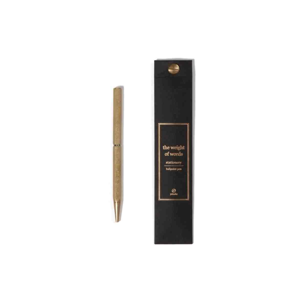 ystudio-brass-ballpoint-pen