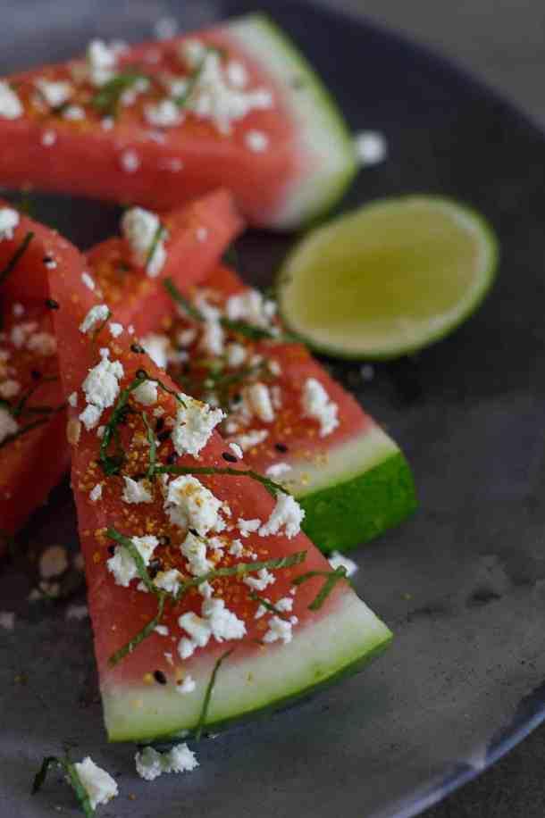 Spicy Watermelon Snacks