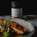 patrick of coonawarra riesling, salmon & beansprout salad
