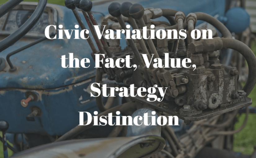 Civic Variations on the Fact, Value, Strategy Distinction