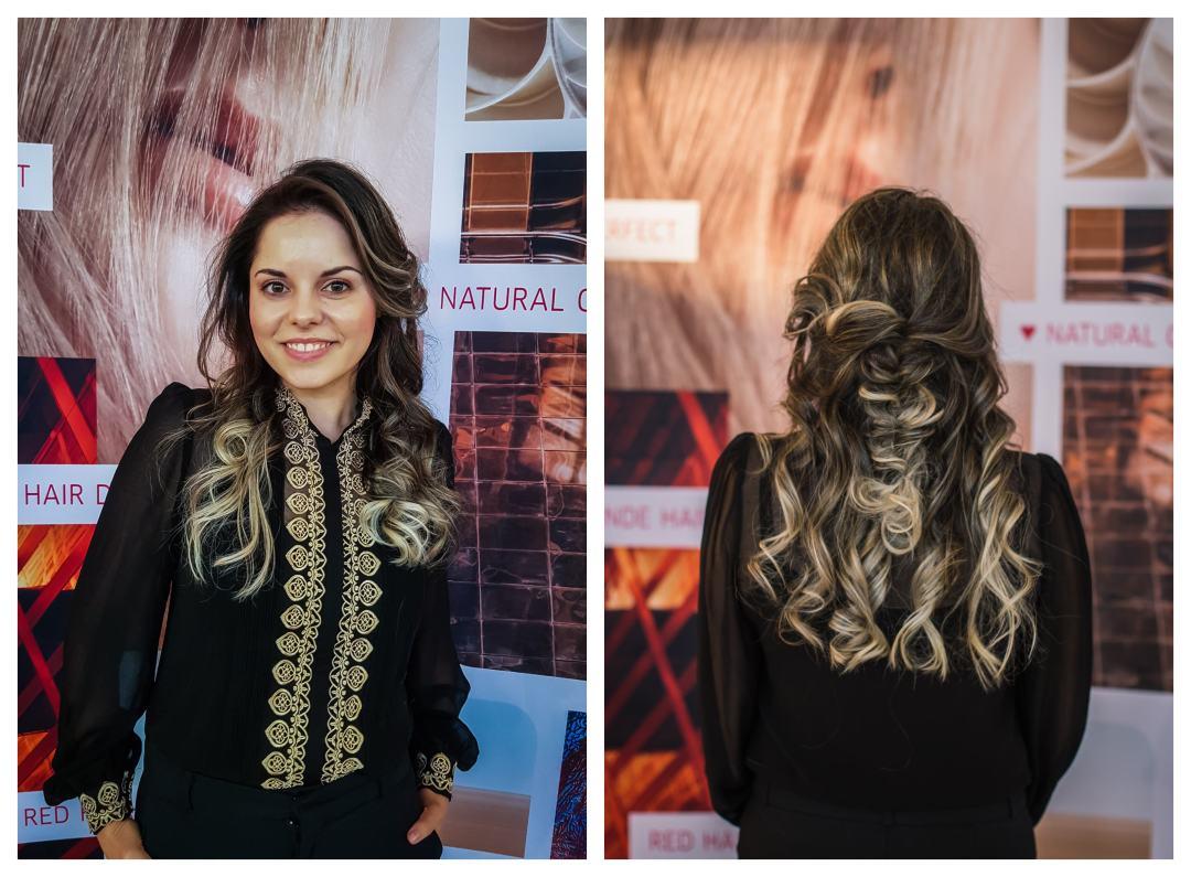 balayage hair braid