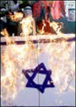 Burning Israel's flag