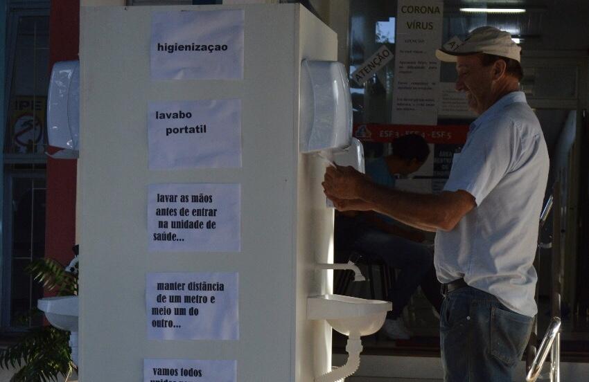 Secretaria da Saúde disponibiliza lavabo portátil na UBS do Centro