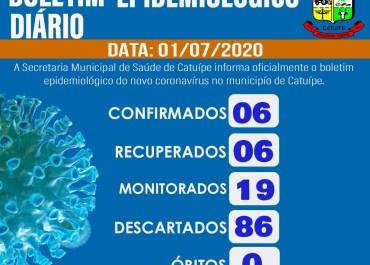 Boletim epidemiológico – CATUÍPE – 01/07/2020
