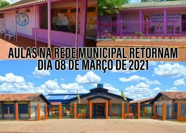 Aulas na Rede Municipal de Catuípe retornam dia 08 de março