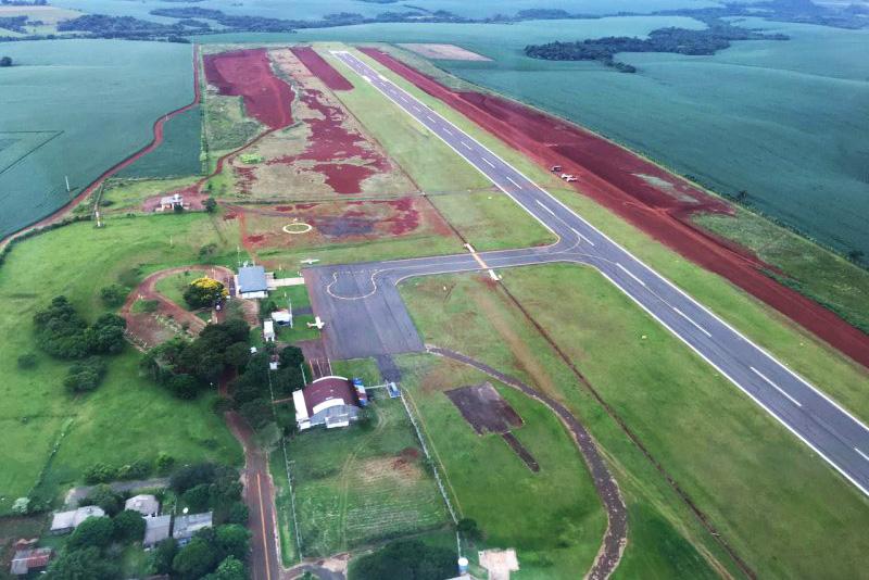Trabalhos avançam para concluir projeto de ampliação do Aeroporto de Santo Ângelo