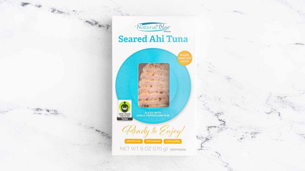 Natural Blue® Fair Trade Certified™ Seared & Sliced Ahi Tuna