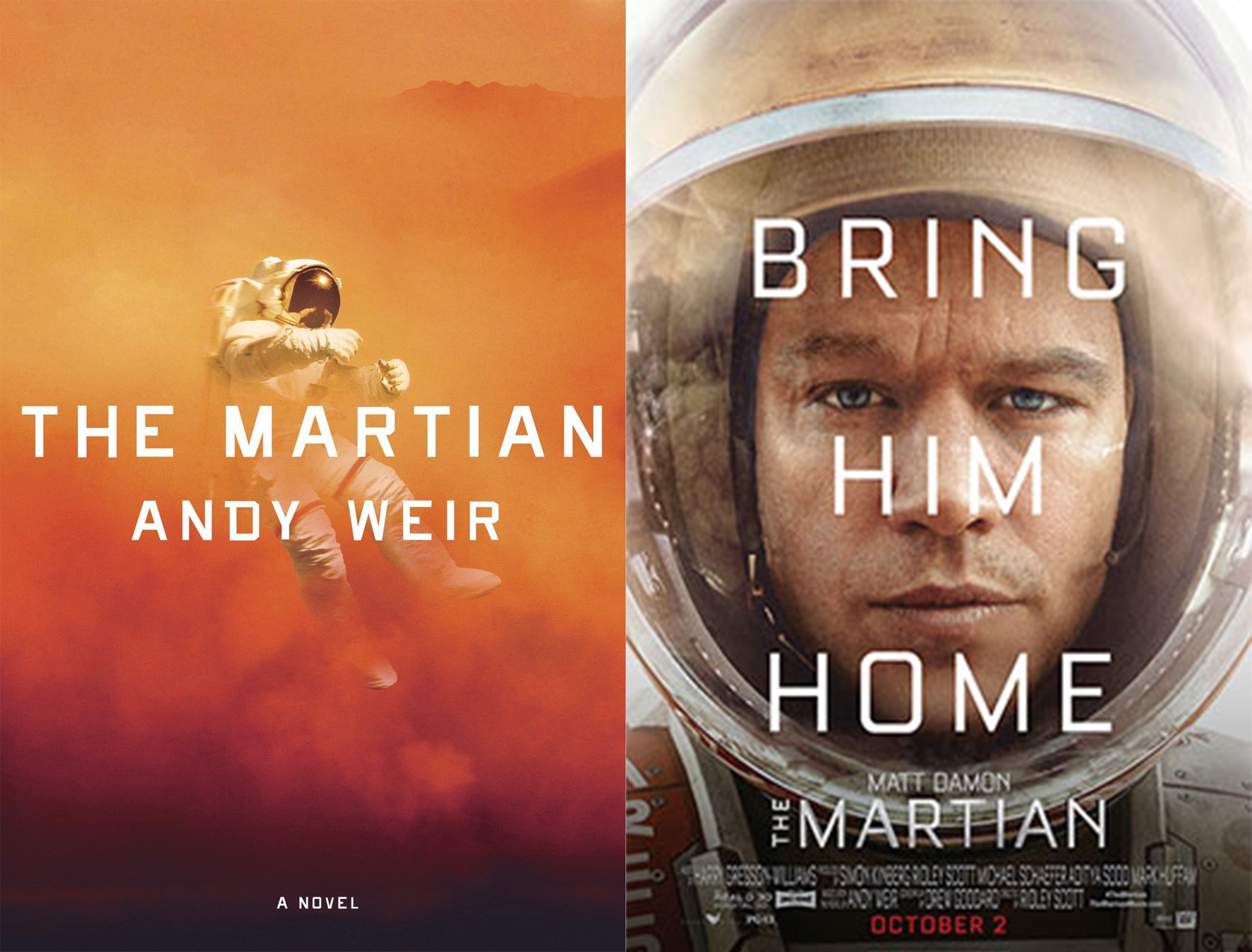 Image result for the martian book vs movie
