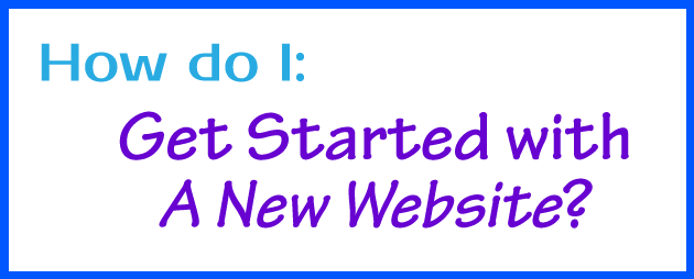 how to get started with wordpress website