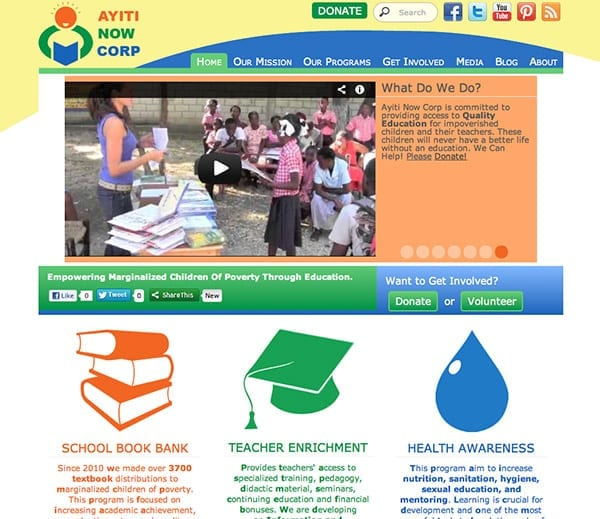 Ayiti Now Corp Web Design