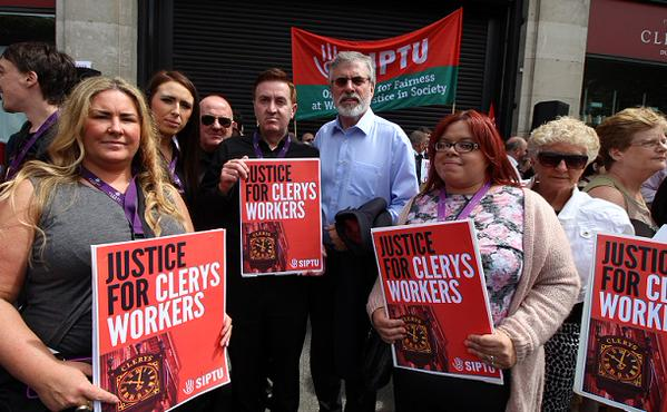 Clerys picket with GA