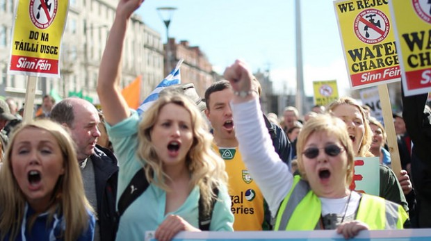 Water Protest, Dublin, 21 Mar 2015
