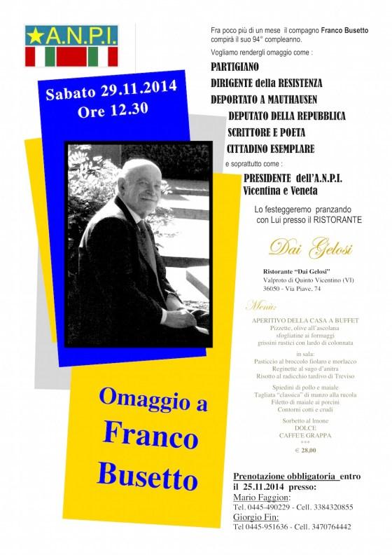 Omaggio a Franco Busetto