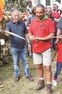 Antonio Sudiro e Franco Rasia al momento dell'inaugurazione