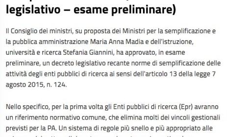governo deceto delegato EPR