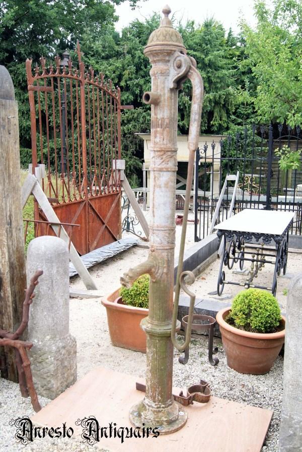 Ref. 47 – Antieke stadspomp uit gietijzer, oude gietijzeren stadspomp