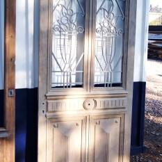 Ref. 17 – Antieke Ardeense eikenhouten buitendeur, oude Ardeense houten voordeur