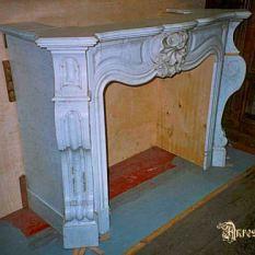 Carrara marmer schouw