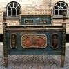 Ref. 43 – Exclusief antiek houten bed, antiek beschilderd houten bed foto 2