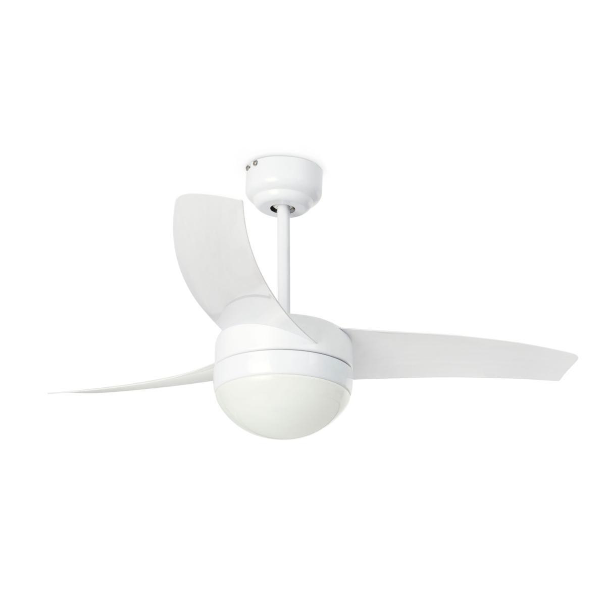 lustre ventilateur de plafond design faro easy 33415 blanc