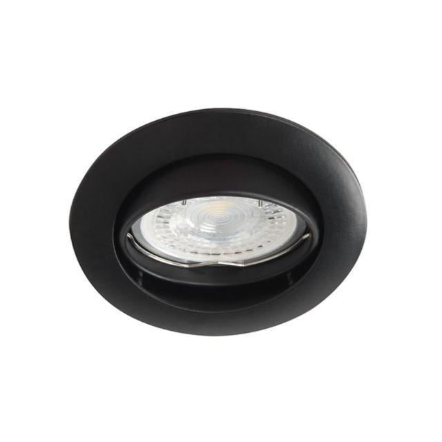 spot encastrable orientable rond noir mat pour led