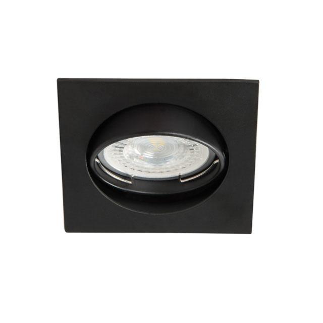 spot encastrable orientable carre noir mat pour led