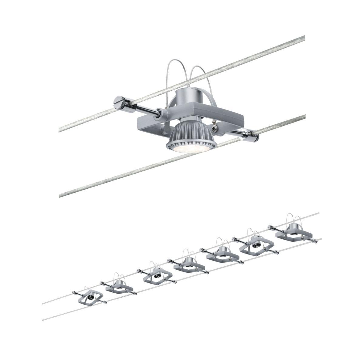 Spot Sur Cable Tendu Kit Mac 2 Sans Ampoule Serie Wire