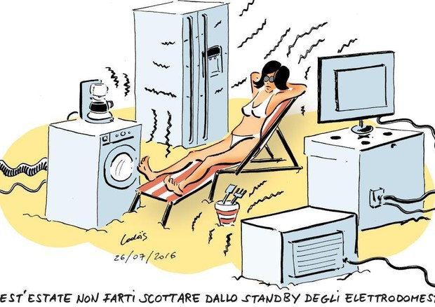 Estate: frigo e tv in stand by ad agosto costano 15 euro © ANSA