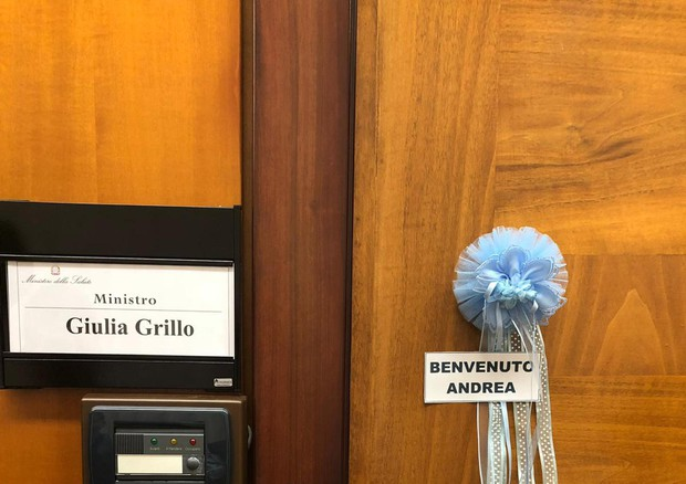 Grillo becomes a mother. Blue ribbon at the ministry © ANSA