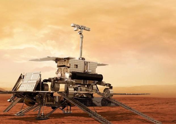 Rappresentazione artistica del rover della missione ExoMars 2020 (fonte: ESA) © Ansa