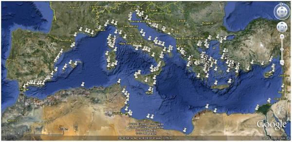 PESCA: GOOGLE EARTH SCOVA SEGRETI ALLEVAMENTI MEDITERRANEO