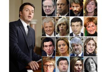 Matteo Renzi e i suoi ministri